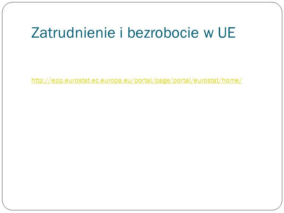 Zatrudnienie i bezrobocie w UE http://epp.eurostat.ec.europa.eu/portal/page/portal/eurostat/home/