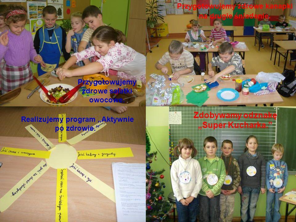 Szkoła promująca zdrowie Barczygłów 2010/2011. W tym roku stawiamy na zdrowe odżywianie. Przygotowujemy zdrowe sałatki owocowe. Realizujemy program Ak