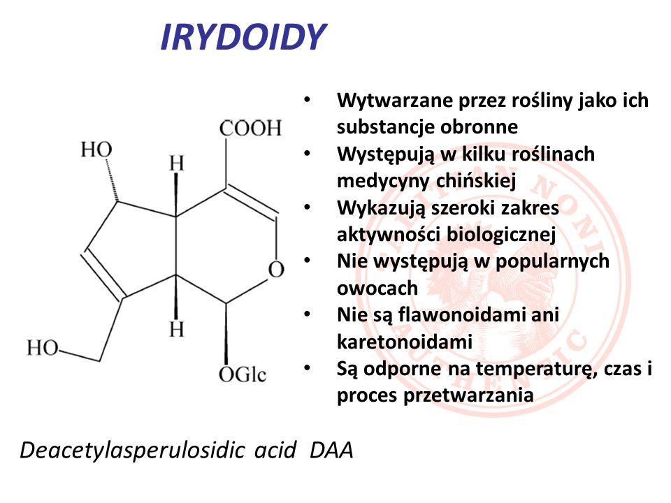 Są to monoterpeny oparte na szkielecie irydanu (1- izopropylo-2,3-dimetylocyklopentanu).