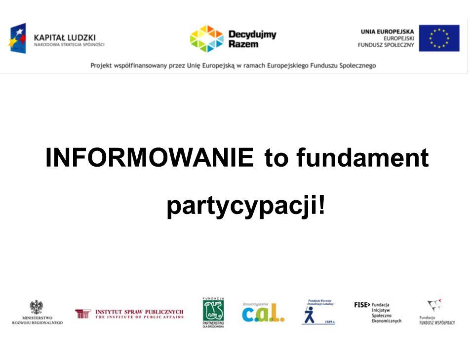 INFORMOWANIE to fundament partycypacji!