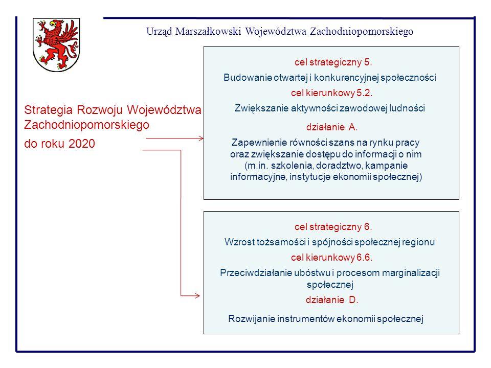 Urząd Marszałkowski Województwa Zachodniopomorskiego Strategia Rozwoju Województwa Zachodniopomorskiego do roku 2020 Budowanie otwartej i konkurencyjn