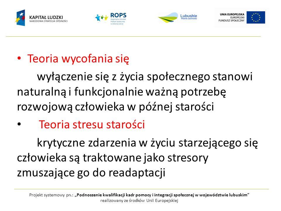Projekt systemowy pn.: Podnoszenie kwalifikacji kadr pomocy i integracji społecznej w województwie lubuskim realizowany ze środków Unii Europejskiej T