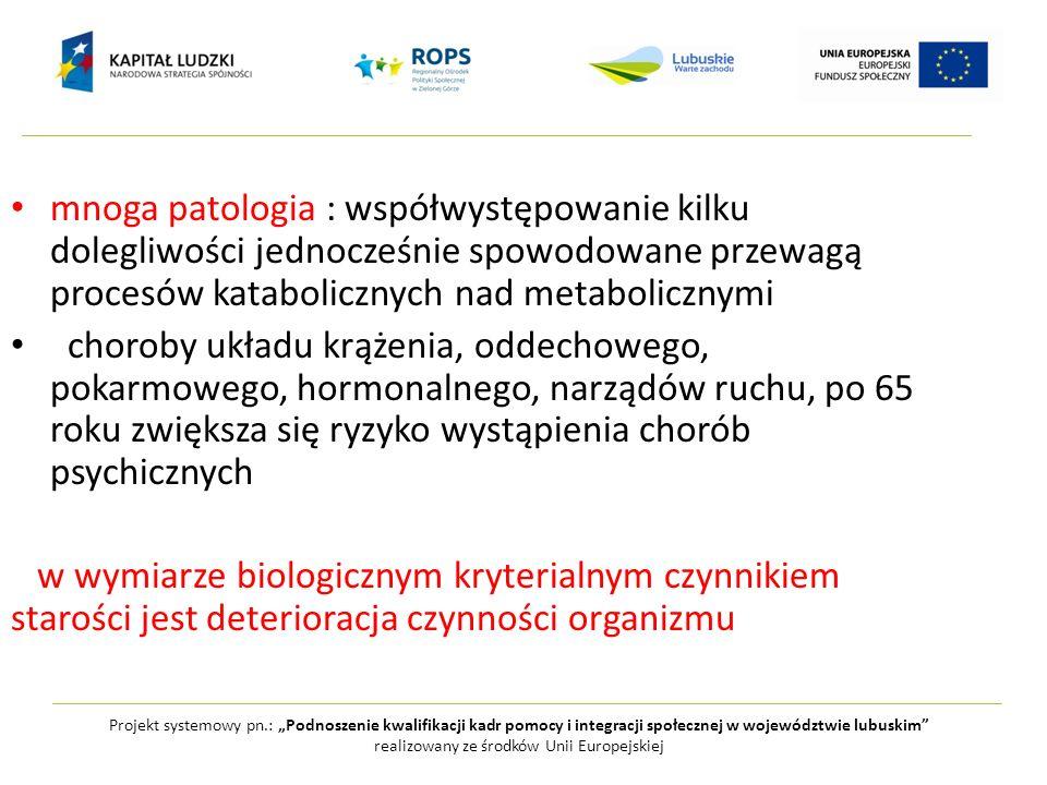 mnoga patologia : współwystępowanie kilku dolegliwości jednocześnie spowodowane przewagą procesów katabolicznych nad metabolicznymi choroby układu krą