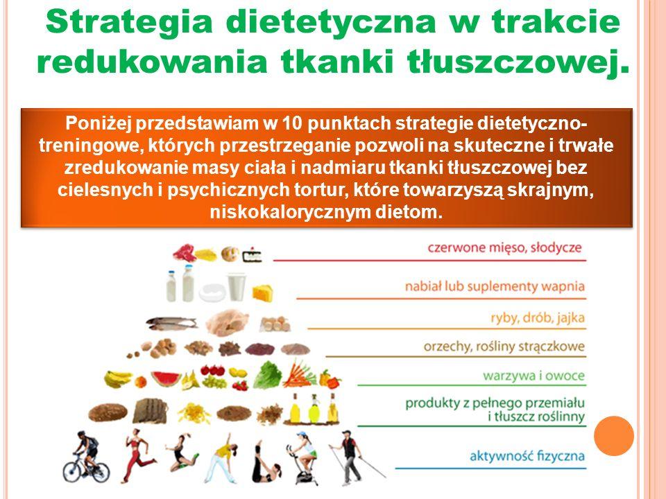 Strategia dietetyczna w trakcie redukowania tkanki tłuszczowej.