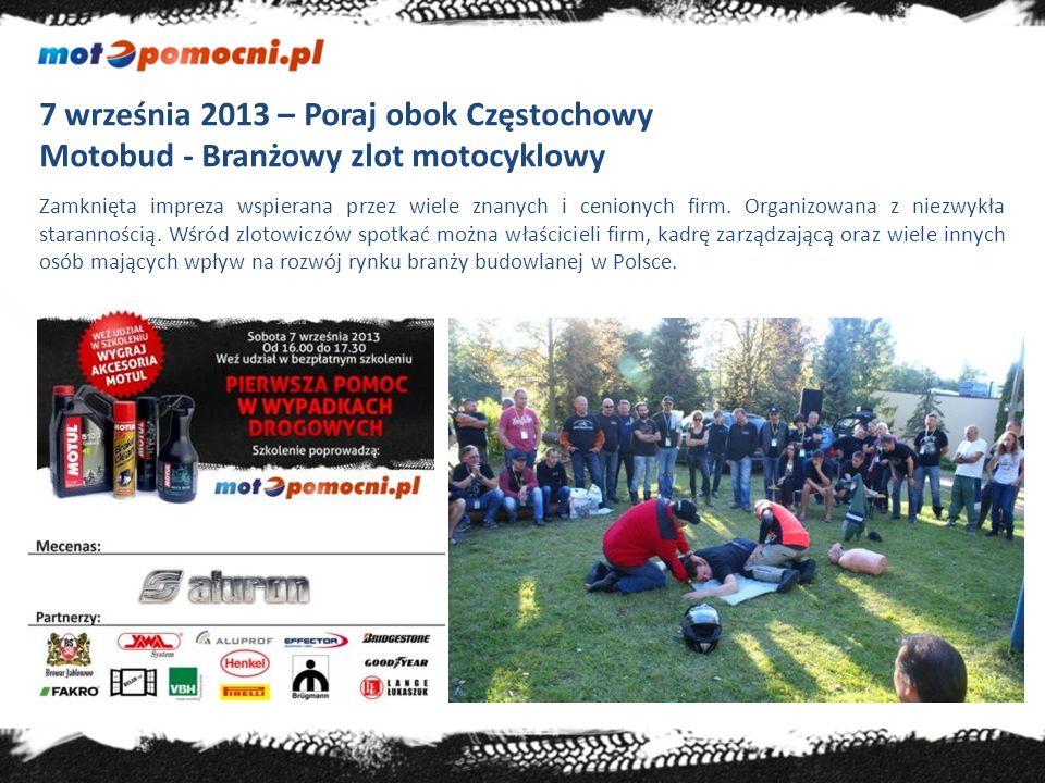 21 listopada – Warszawa Debata Sejm Motocyklistom Celem spotkania było podsumowanie sezonu motocyklowego oraz omówienie najważniejszych projektów społecznych tego roku – w tym kampanii MotoPomocni.