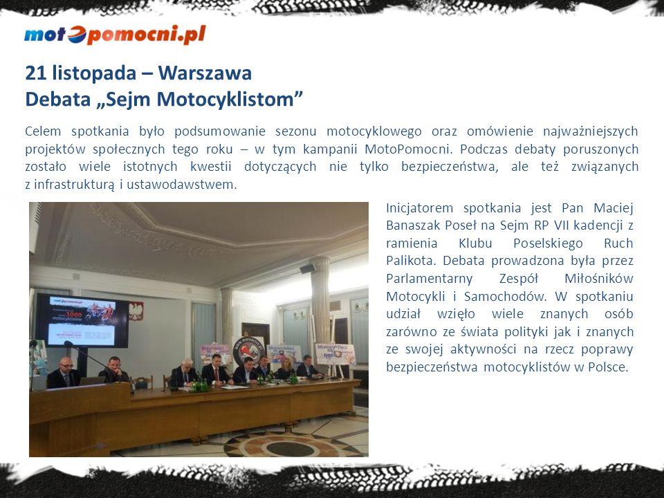 Kalendarium 2013 (przeprowadzone szkolenia) 1.2-3 marca 2013 Warszawa V Ogólnopolska wystawa motocykli i skuterów Przeszkolonych 340 osób 2.2.