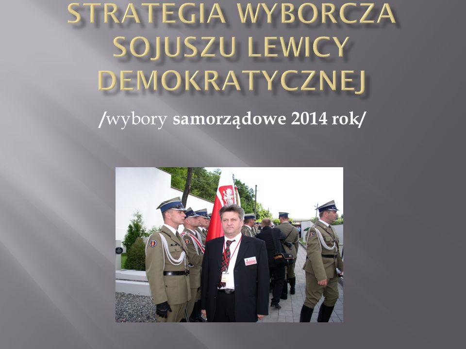 Realizacja programu politycznego Sojuszu Lewicy Demokratycznej przez udział w sprawowaniu władzy na wszystkich szczeblach samorządu terytorialnego