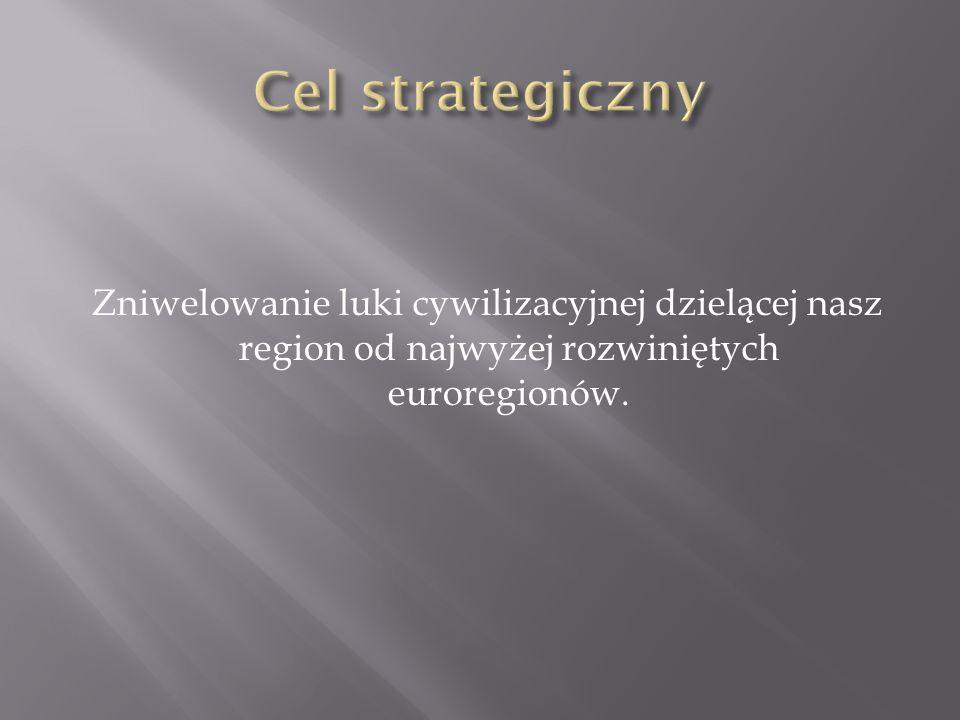 Zniwelowanie luki cywilizacyjnej dzielącej nasz region od najwyżej rozwiniętych euroregionów.