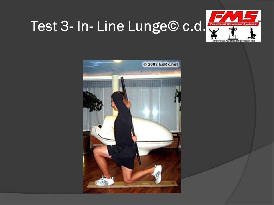 Test 3- In- Line Lunge© c.d.