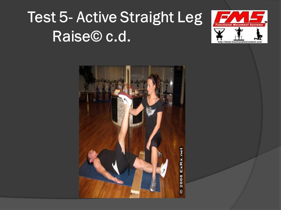 Test 5- Active Straight Leg Raise© c.d.