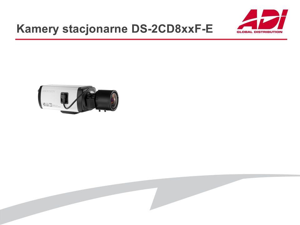 Kamery stacjonarne DS-2CD8xxF-E PODSTAWOWE CECHY Dostępne modele: DS-2CD864F-E (1920*960@25kl./s) DS-2CD864FWD-E (1280*960@25kl./s) DS-2CD853F-E (1600
