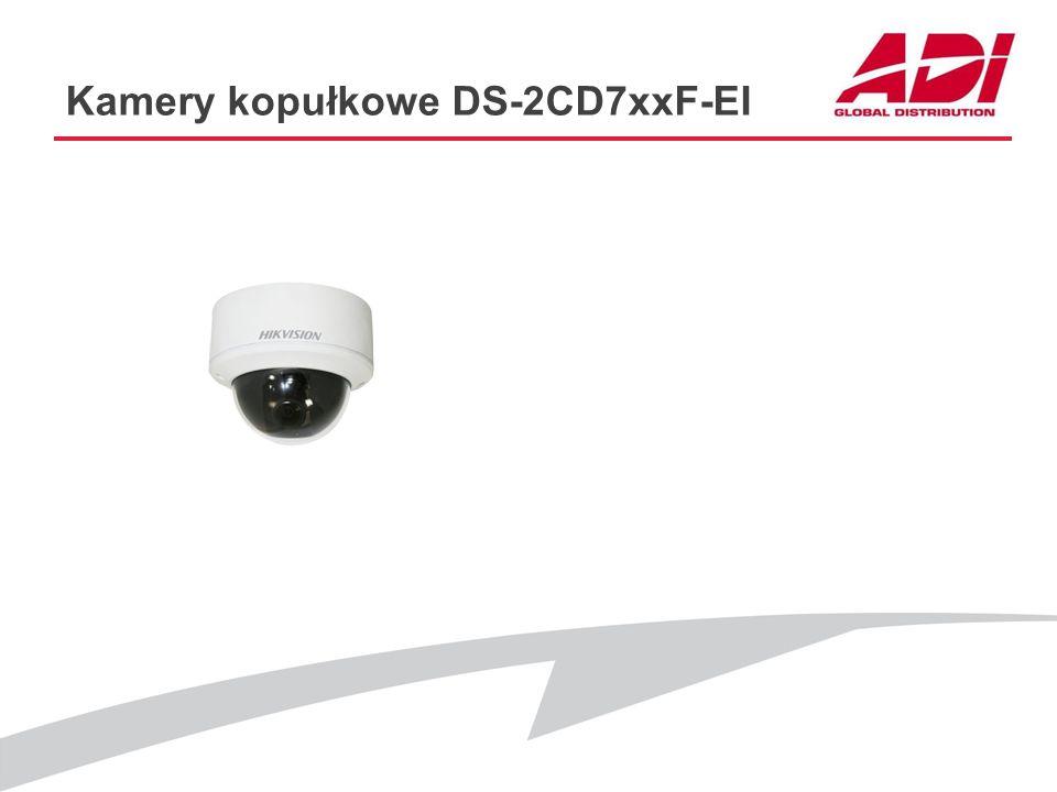 Kamery kopułkowe DS-2CD7xxF-EI PODSTAWOWE CECHY Dostępne modele: DS-2CD764FWD-EI (1280*960@25kl./s) DS-2CD753F-EI(Z) (1600*1200@12.5kl./s) DS-2CD755F-