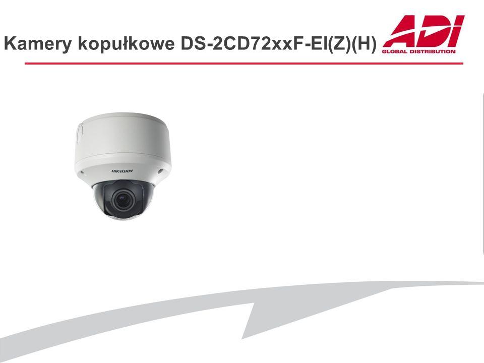 Kamery kopułkowe DS-2CD72xxF-EI(Z)(H) PODSTAWOWE CECHY Dostępne modele: DS-2CD7264FWD-EI(Z)(H) (1920*960@25kl./s, WDR) DS-2CD7253F-EI(Z)(H) (1600*1200