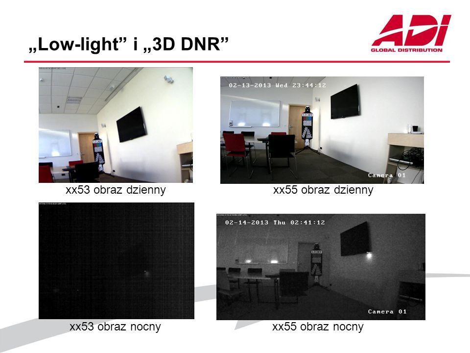 Low-light i 3D DNR xx53 obraz dziennyxx55 obraz dzienny xx53 obraz nocnyxx55 obraz nocny