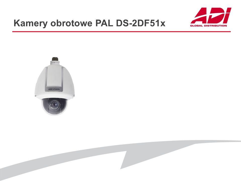 Kamery obrotowe PAL DS-2DF51x PODSTWOWE CECHY Rozdzielczość: 4CIF@25kl./s Przetwornik: CCD Zoom optyczny: 23x, 30x, 36x D&N: ICR Maski prywatności:24x