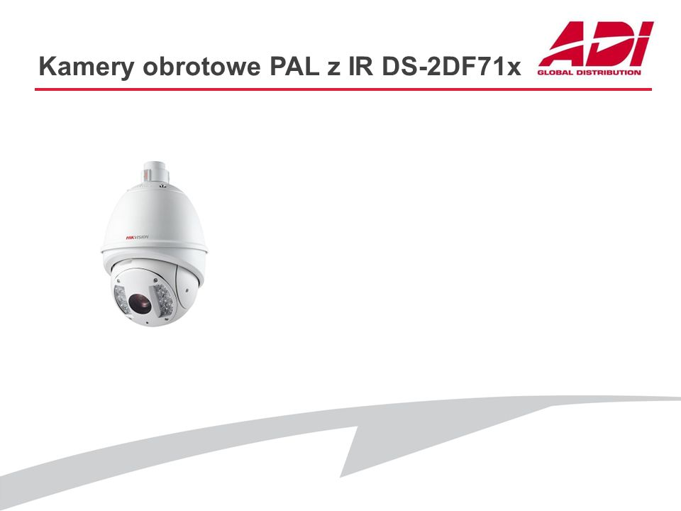 Kamery obrotowe PAL z IR DS-2DF71x KEY FEATURES Rozdzielczość: 4CIF@25kl./s Przetwornik: CCD Zoom optyczny: 23x, 30x, 36x D&N: ICR Zasięg IR:80m :Mask