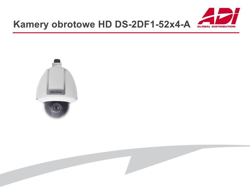 Kamery obrotowe HD DS-2DF1-52x4-A PODSTAWOWE CECHY Rozdzielczość: 1280x960@25kl./s, 1920x1080@25kl./s Przetwornik: CMOS Zoom optyczny: 20x D&N: ICR DN