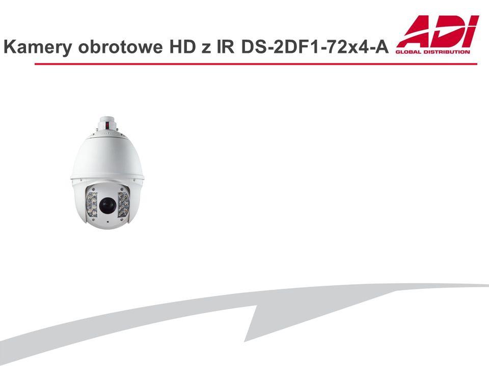 Kamery obrotowe HD z IR DS-2DF1-72x4-A PODSTAWOWE CECHY Rozdzielczość: 1280x960@25kl./s, 1920x1080@25kl./s Przetwornik: CMOS Zoom optyczny: 20x D&N: I