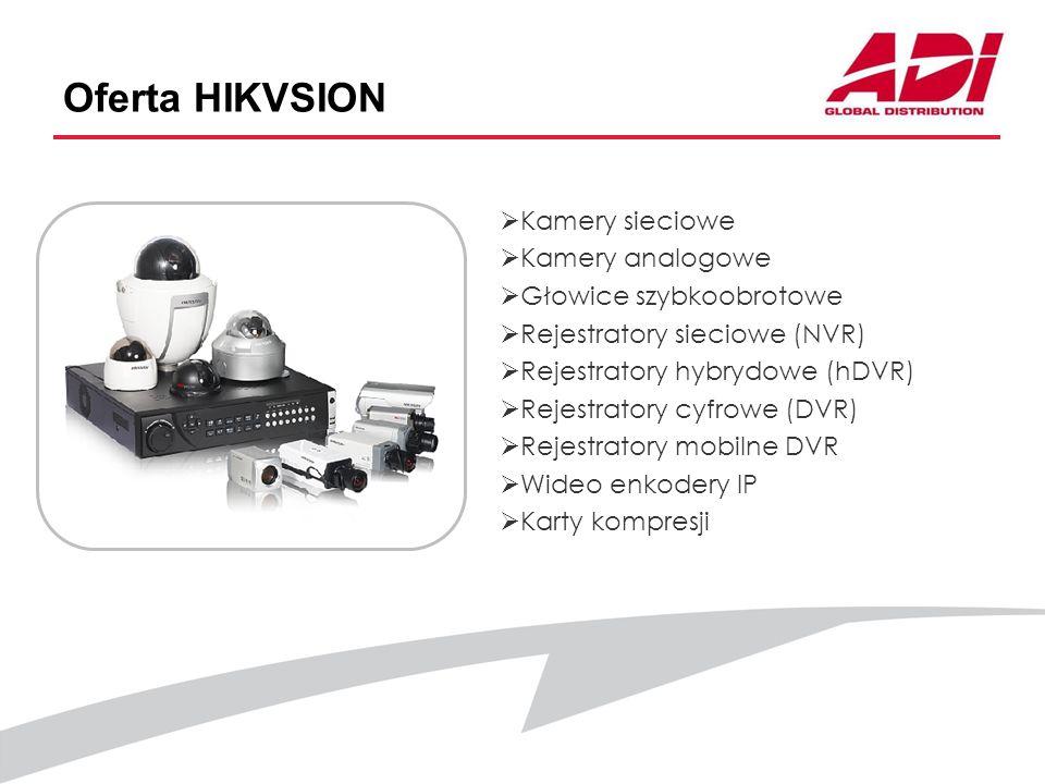 Oferta HIKVSION Kamery sieciowe Kamery analogowe Głowice szybkoobrotowe Rejestratory sieciowe (NVR) Rejestratory hybrydowe (hDVR) Rejestratory cyfrowe