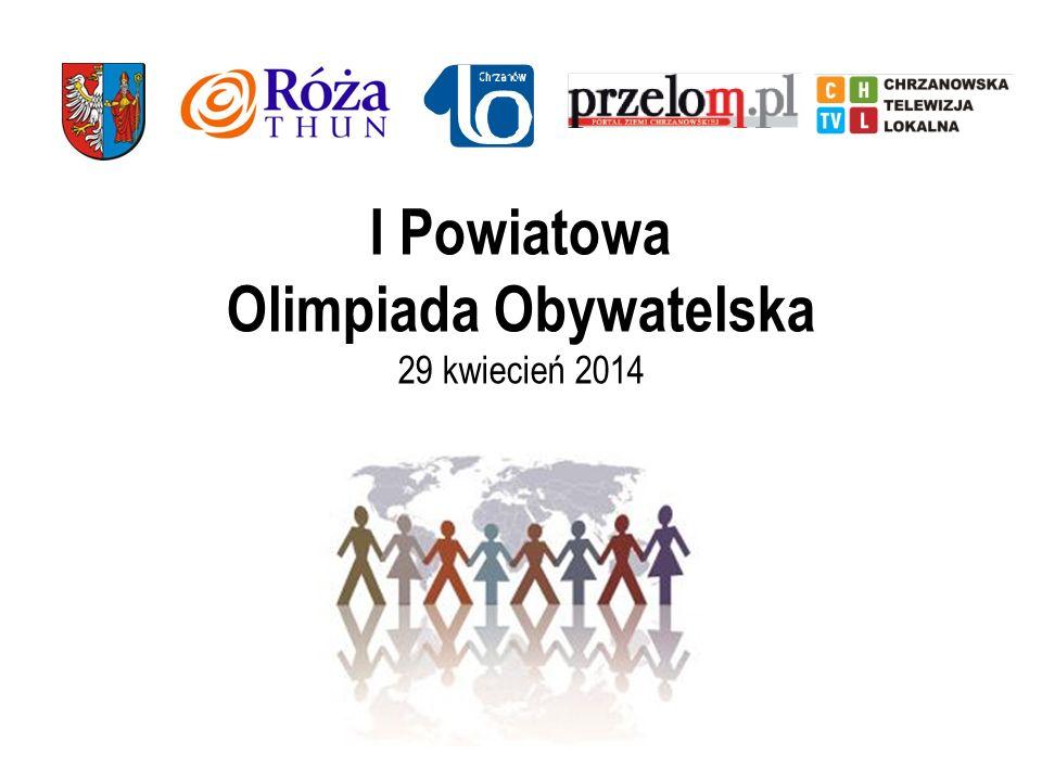 I Powiatowa Olimpiada Obywatelska 29 kwiecień 2014