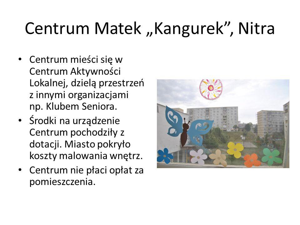 Centrum Matek Kangurek, Nitra Sala zabaw dla dzieci otwarta jest od 9-13 potem przerwa na sprzątanie, układanie zabawek i znów otwarte od 15-19.