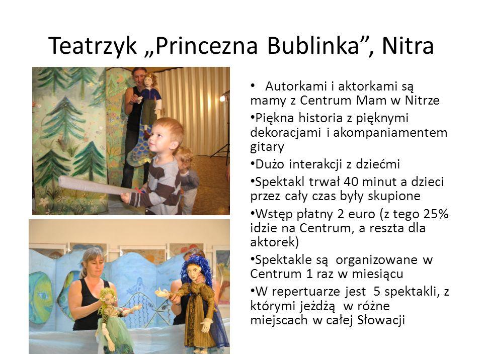 Teatrzyk Princezna Bublinka, Nitra Autorkami i aktorkami są mamy z Centrum Mam w Nitrze Piękna historia z pięknymi dekoracjami i akompaniamentem gitar