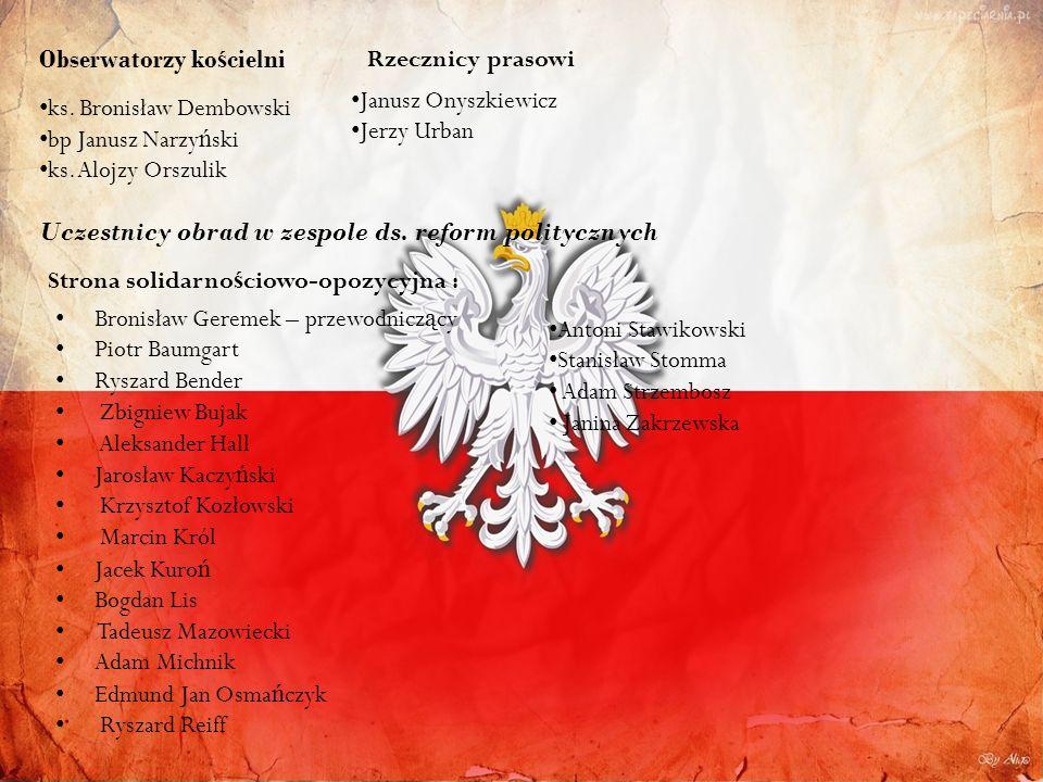 Obserwatorzy ko ś cielni ks.Bronisław Dembowski bp Janusz Narzy ń ski ks.
