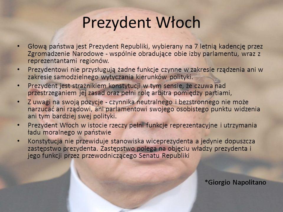Głową państwa jest Prezydent Republiki, wybierany na 7 letnią kadencję przez Zgromadzenie Narodowe - wspólnie obradujące obie izby parlamentu, wraz z
