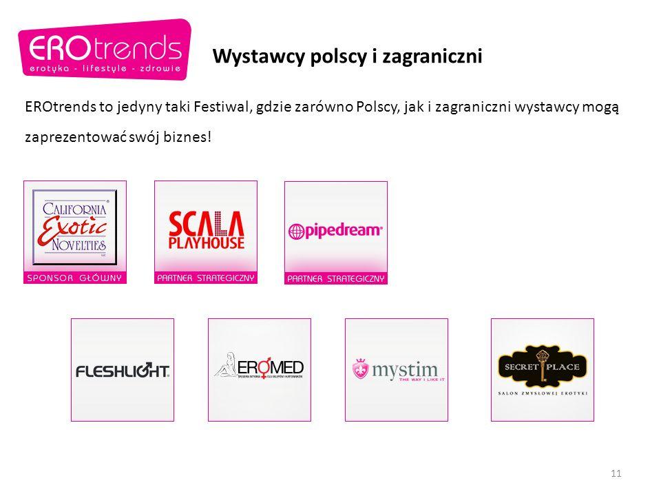 Wystawcy polscy i zagraniczni EROtrends to jedyny taki Festiwal, gdzie zarówno Polscy, jak i zagraniczni wystawcy mogą zaprezentować swój biznes.