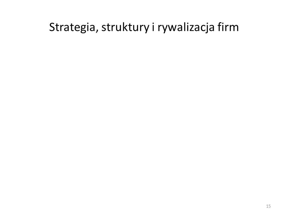 Strategia, struktury i rywalizacja firm 15