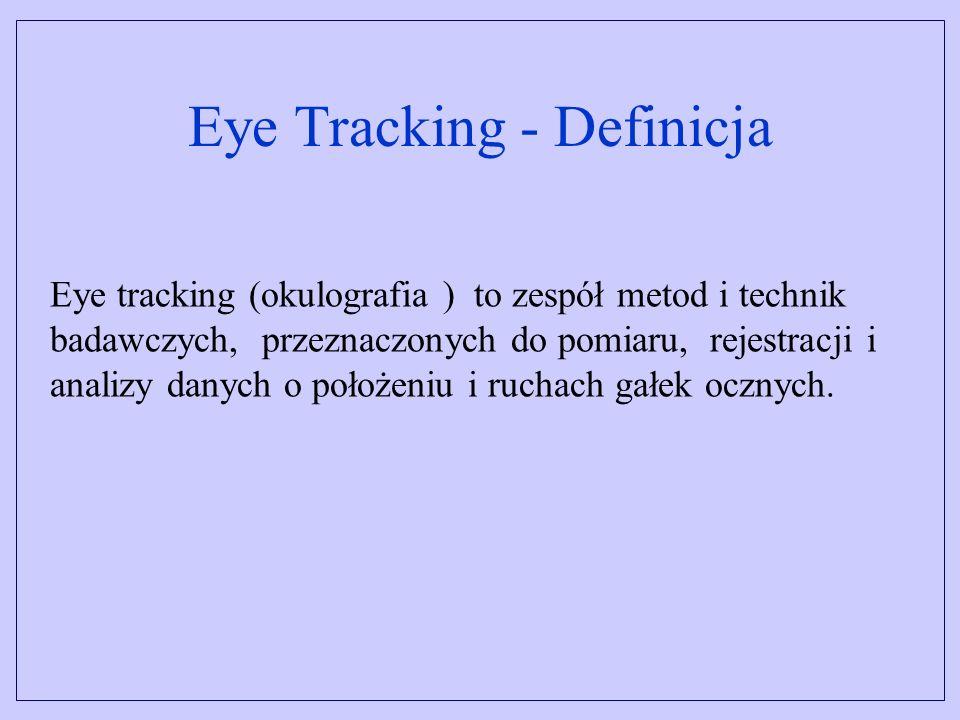 Systemy bezkontaktowe Kamera video rejestruje obraz oka z odległości około 0,5 m.