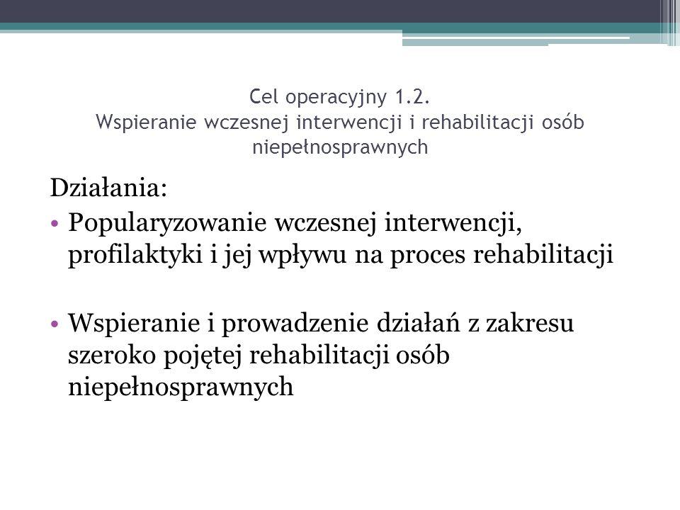 Cel operacyjny 1.2.