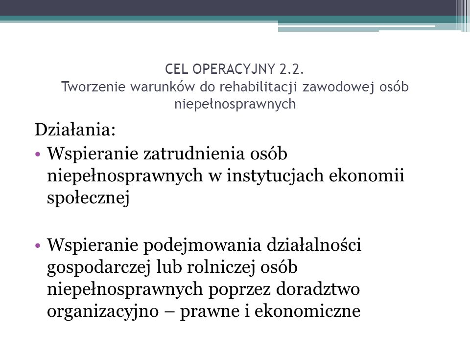 CEL OPERACYJNY 2.2.