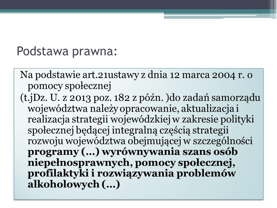 Podstawa prawna: Na podstawie art.21ustawy z dnia 12 marca 2004 r.