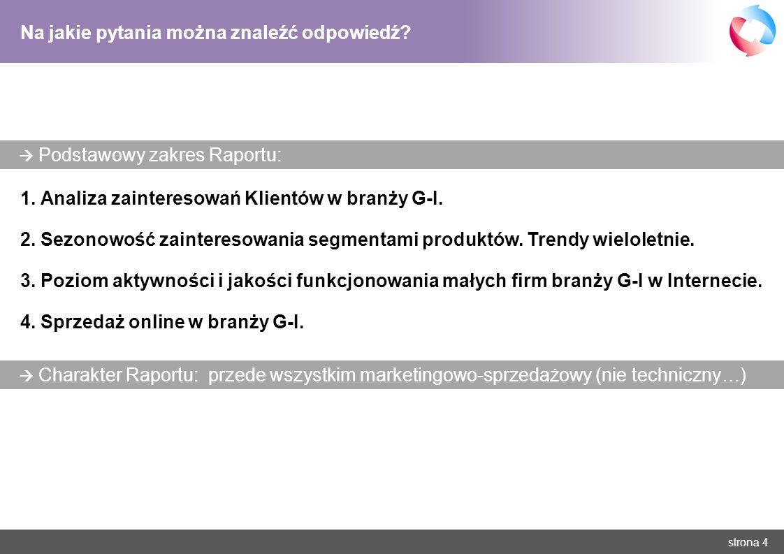strona 5 Analiza zainteresowań Klientów w branży grzewczo-instalacyjnej O jakich urządzeniach poszukuje się informacji.