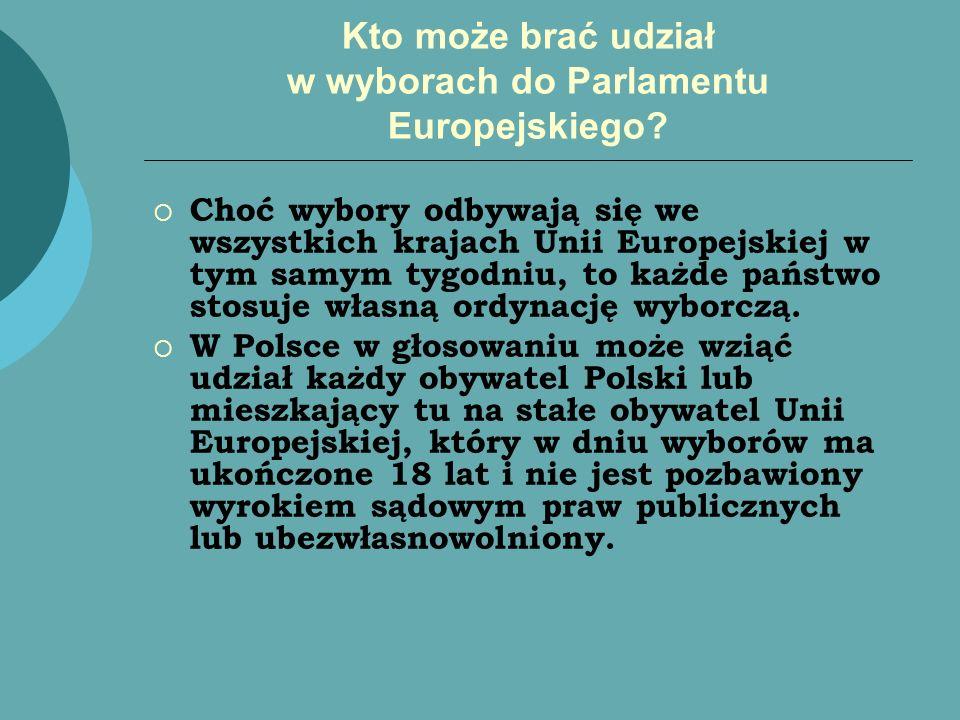 Kto może brać udział w wyborach do Parlamentu Europejskiego? Choć wybory odbywają się we wszystkich krajach Unii Europejskiej w tym samym tygodniu, to