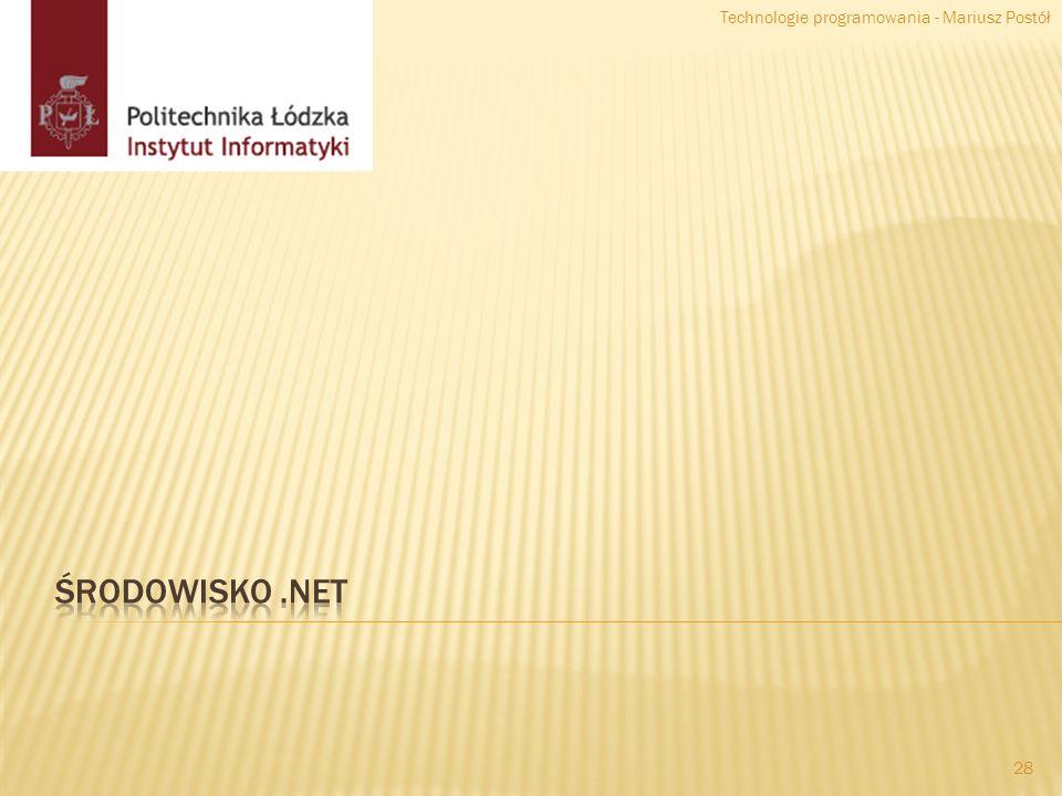 28 Technologie programowania - Mariusz Postół