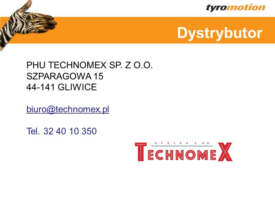 Titelmasterformat Dystrybutor PHU TECHNOMEX SP. Z O.O. SZPARAGOWA 15 44-141 GLIWICE biuro@technomex.pl Tel. 32 40 10 350