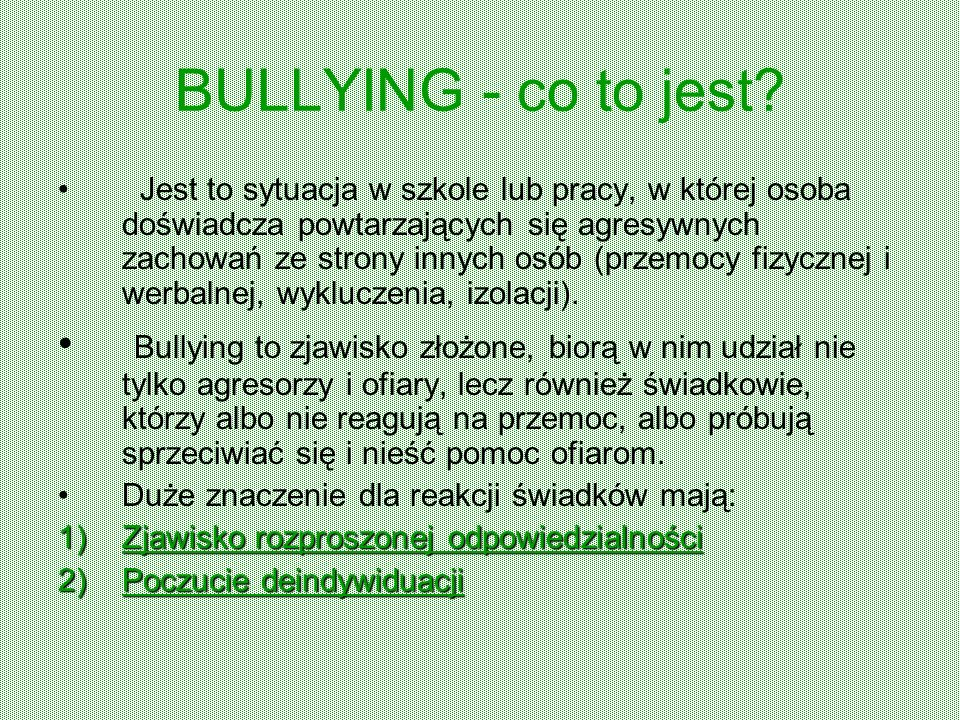BULLYING - co to jest.
