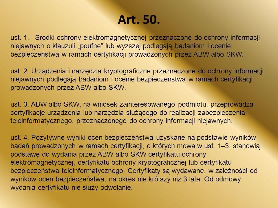 Art.50. ust. 1.