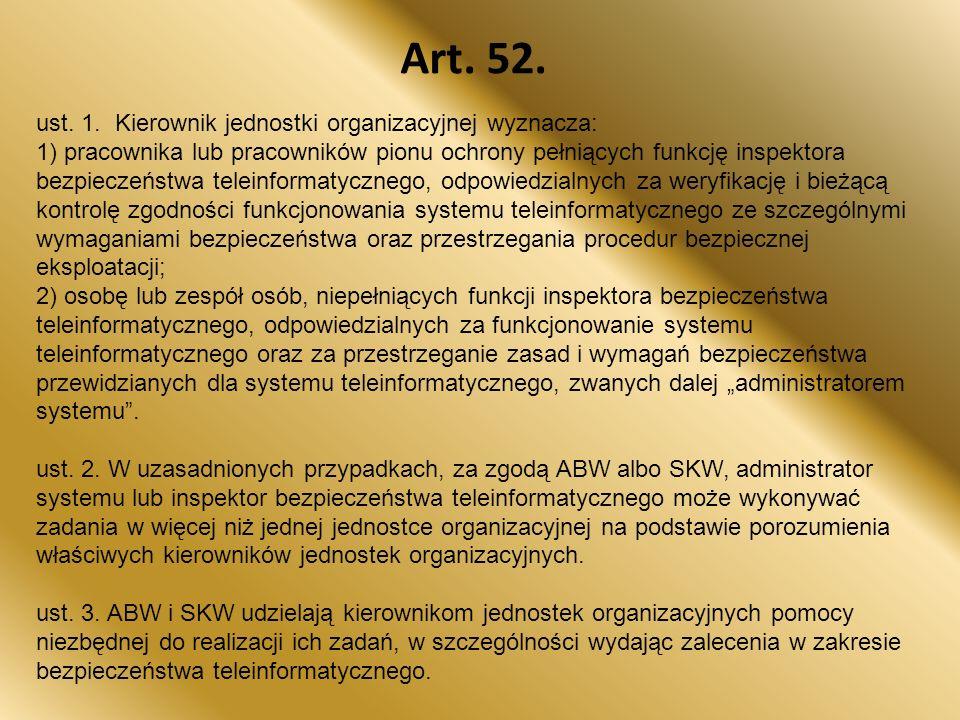Art.52. ust. 1.