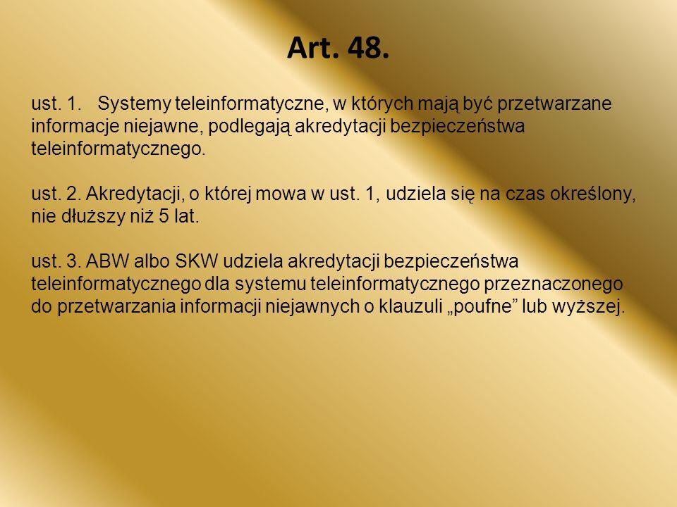 Art.48. ust. 1.