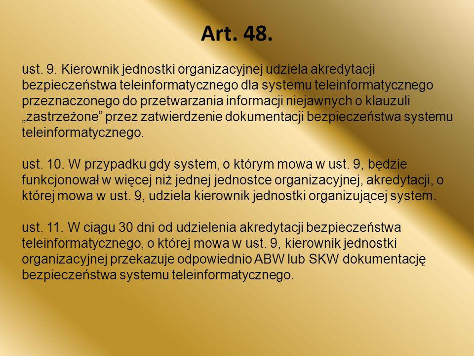 Art.48. ust. 9.