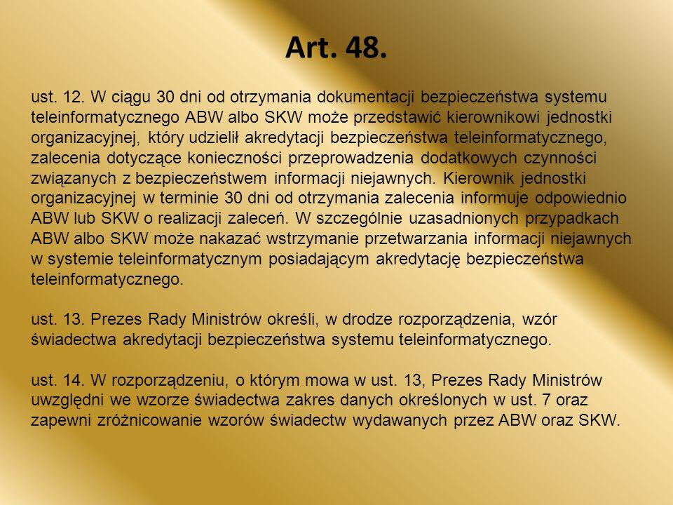 Art.48. ust. 12.