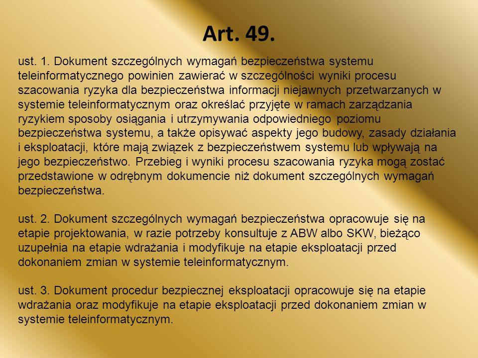 Art.49. ust. 1.
