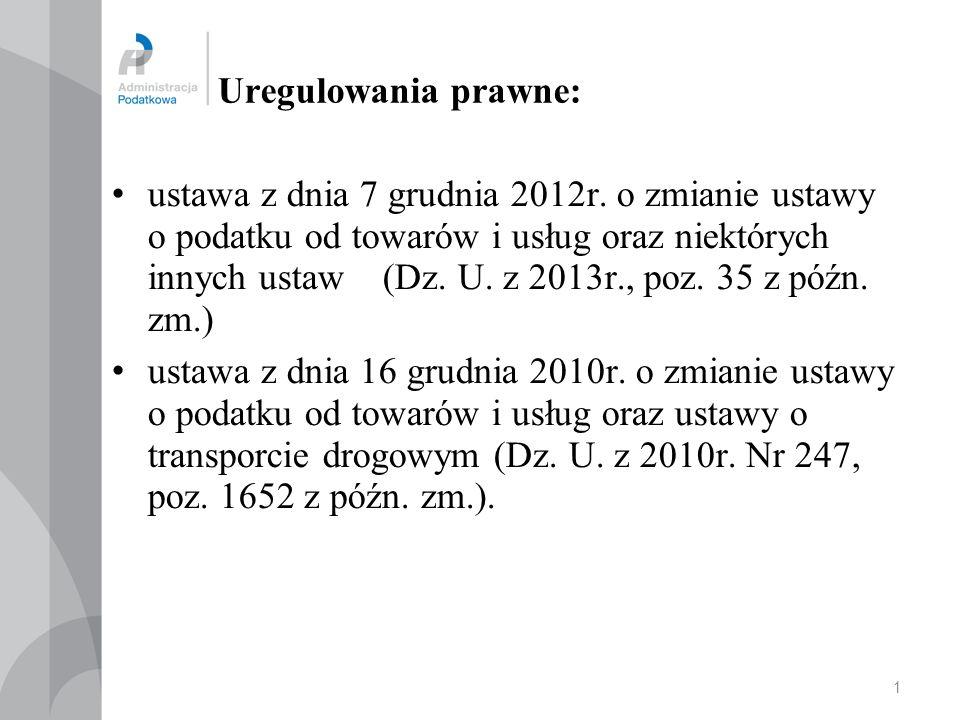 06.10.2013 Główne zmiany w VAT od 1 stycznia 2014r.