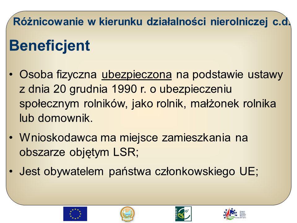 Tworzenie i rozwój mikroprzedsiębiorstw c.d.