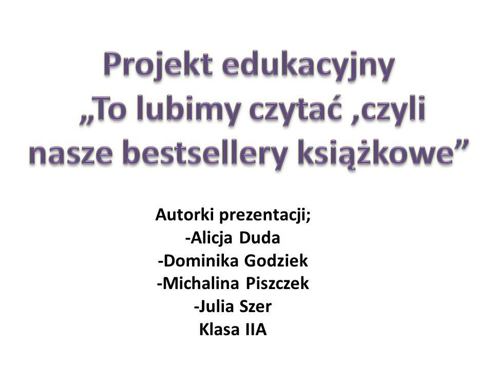 Autorki prezentacji; -Alicja Duda -Dominika Godziek -Michalina Piszczek -Julia Szer Klasa IIA