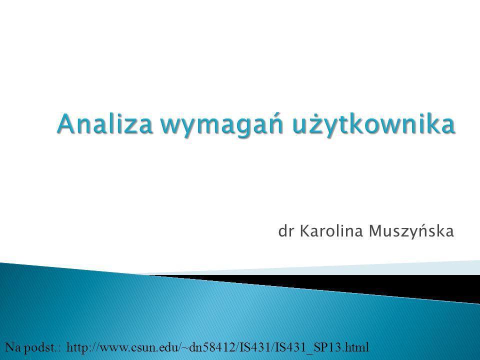 dr Karolina Muszyńska Na podst.: http://www.csun.edu/~dn58412/IS431/IS431_SP13.html