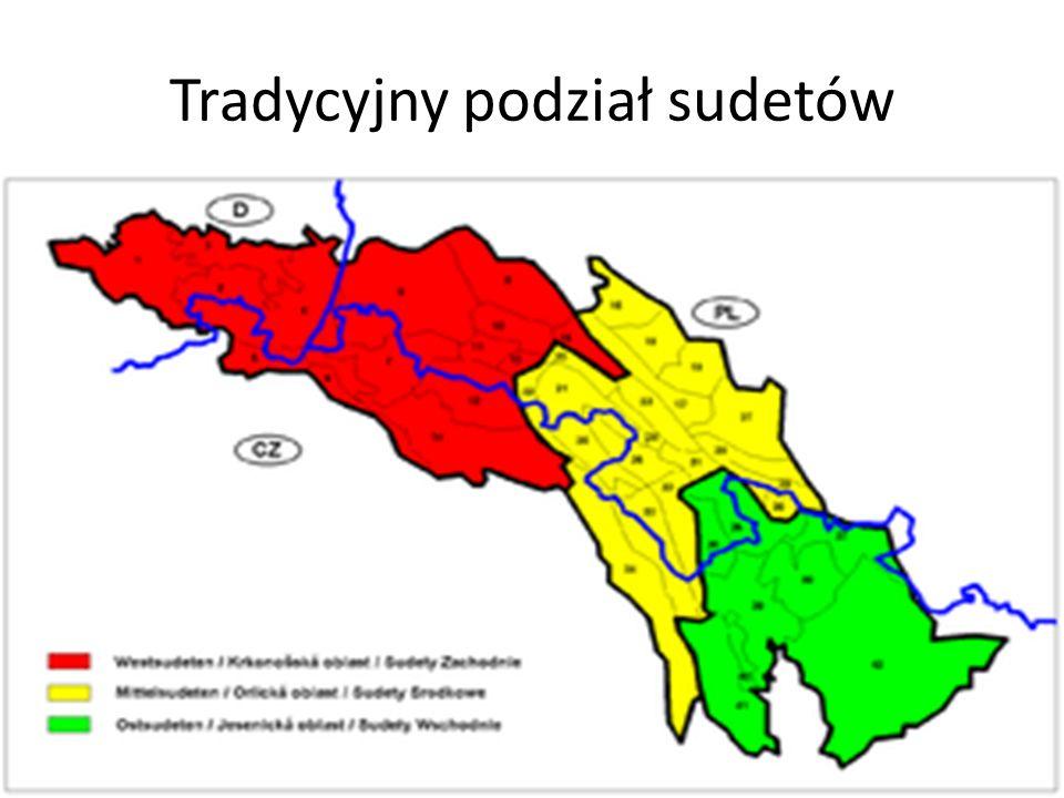 Tradycyjny podział sudetów